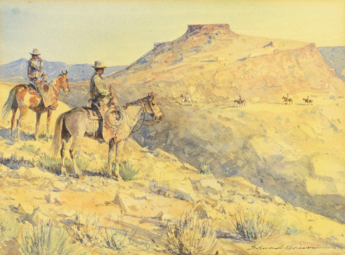 Art Prints of Flat Top Riders by Edward Borein