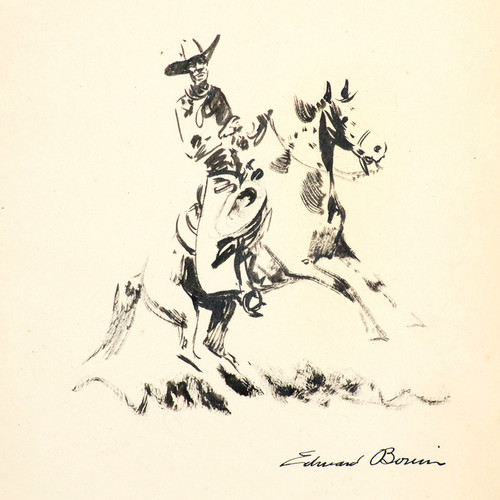 Art Prints of The Pinto Horse by Edward Borein