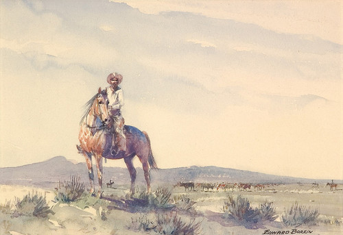 Art Prints of Trail Boss by Edward Borein