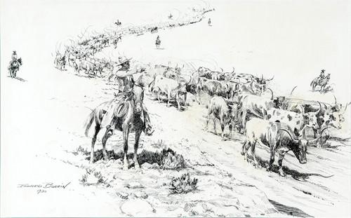 Art Prints of Trail Herd by Edward Borein