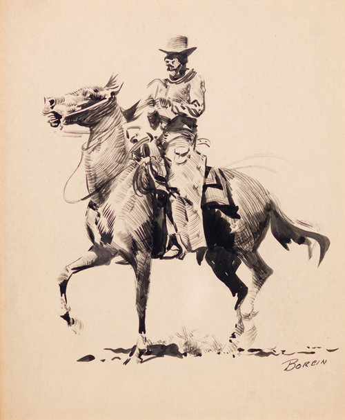 Art Prints of Mounted Rider by Edward Borein
