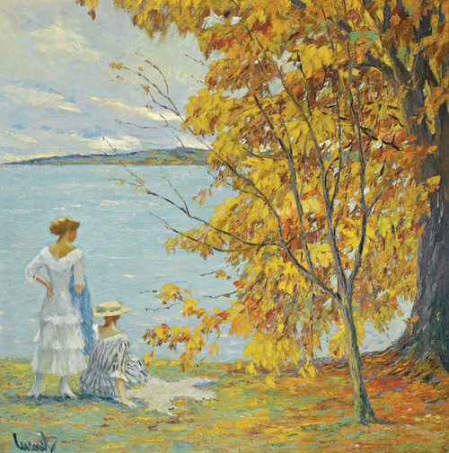 Art Prints of Autumn Walk by Edward Cucuel