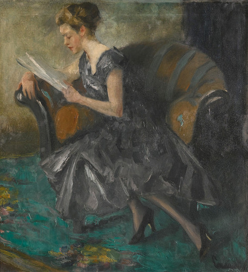 Art Prints of Girl in an Interior by Edward Cucuel