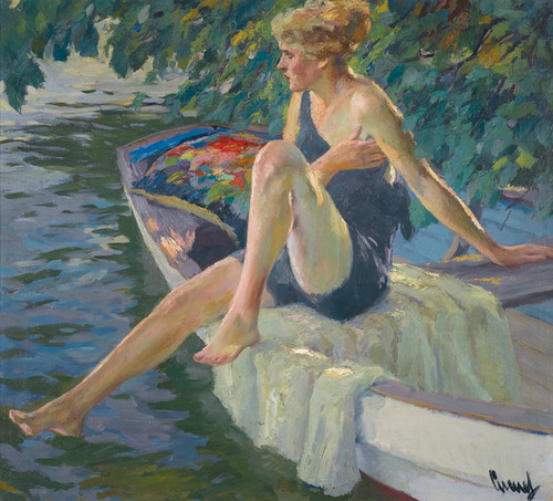 Art Prints of The Bather by Edward Cucuel