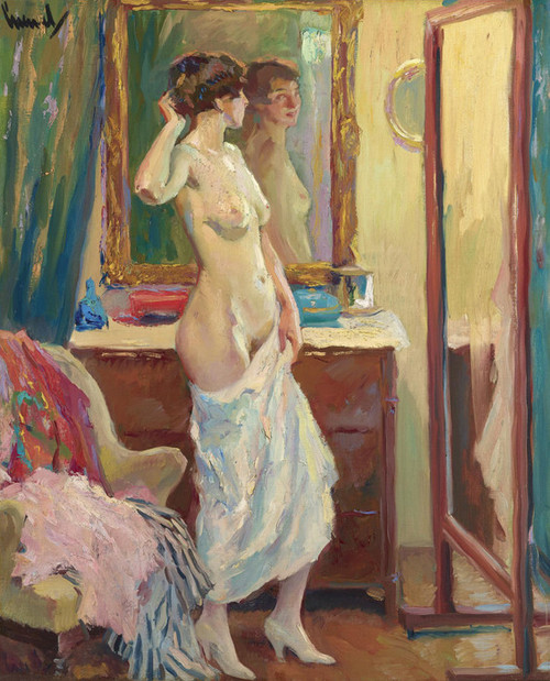 Art Prints of The Looking Glass by Edward Cucuel