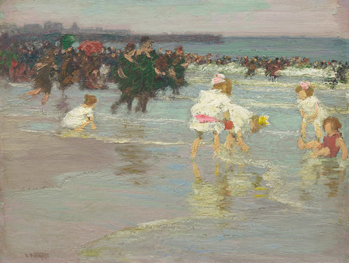 Art Prints of Beach Scene by Edward Henry Potthast