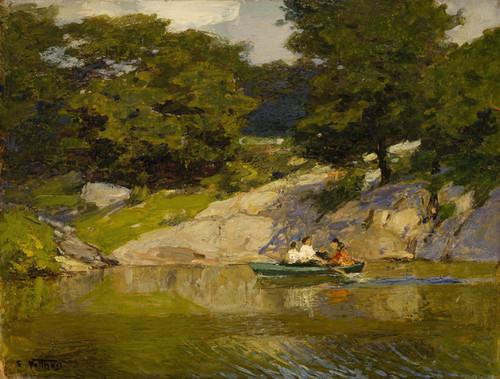 Art Prints of Boating in Central Park by Edward Henry Potthast