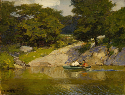 Art Prints of Boating in Central Park by Edward Henry Potthast