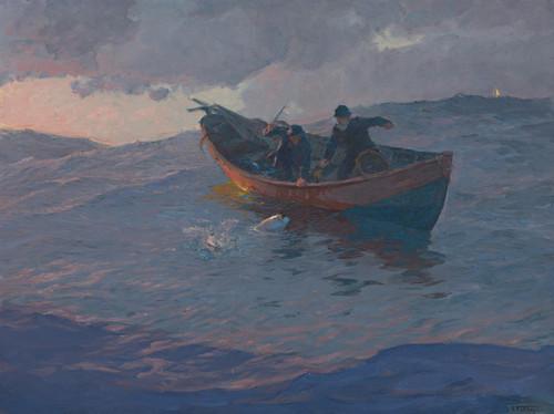 Art Prints of Struggle for the Catch by Edward Henry Potthast
