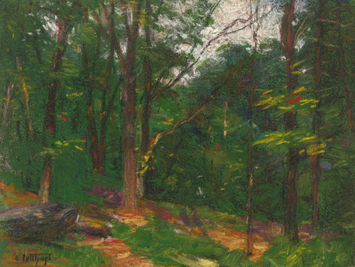Art Prints of Trees at the Edge of the Clearing by Edward Henry Potthast