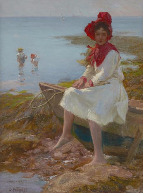 Art Prints of The Red Bonnett by Edward Henry Potthast