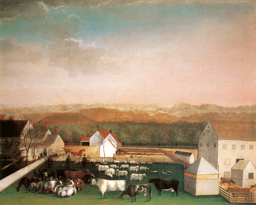 Art Prints of David Leedom Farm, 1849 by Edward Hicks