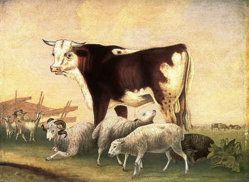Art Prints of James Cornell's Prize Bull, 1846 by Edward Hicks