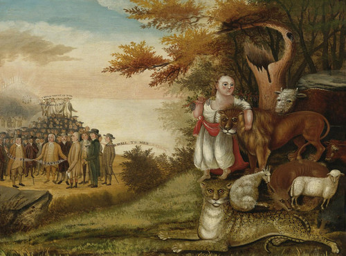 Art Prints of Peaceable Kingdom of the Banner by Edward Hicks