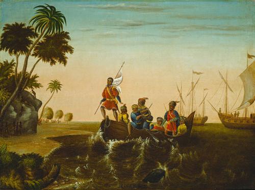 Art Prints of The Landing of Columbus by Edward Hicks