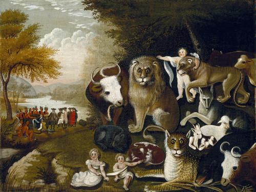 Art Prints of The Peaceable Kingdom, II by Edward Hicks