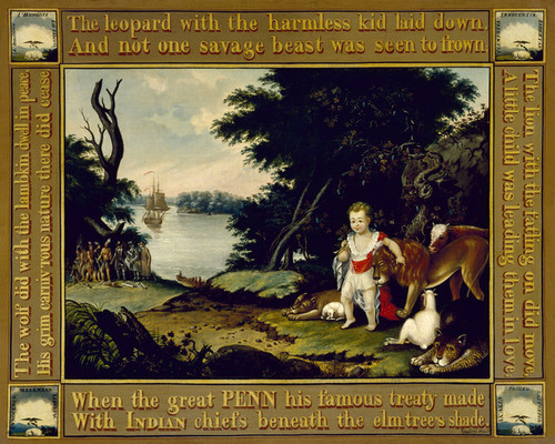 Art Prints of The Peaceable Kingdom, III by Edward Hicks