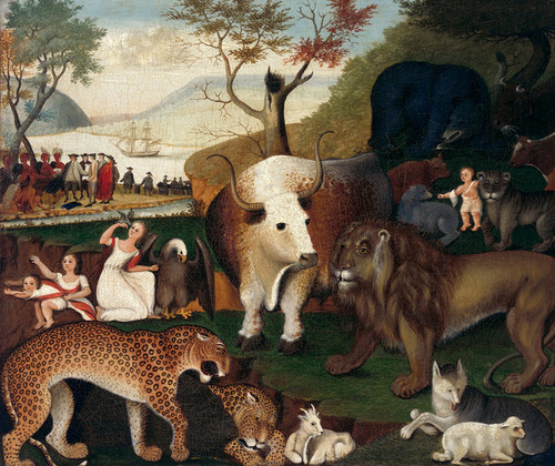 Art Prints of The Peaceable Kingdom, V by Edward Hicks