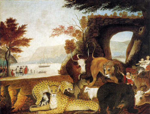 Art Prints of The Peaceable Kingdom, 1847 by Edward Hicks