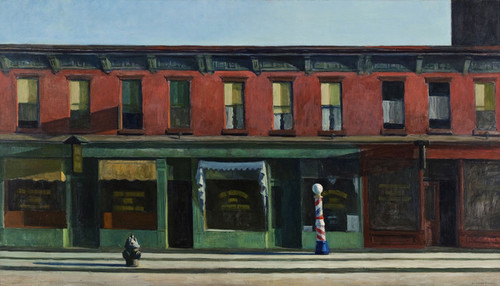Art Prints of Early Sunday Morning by Edward Hopper