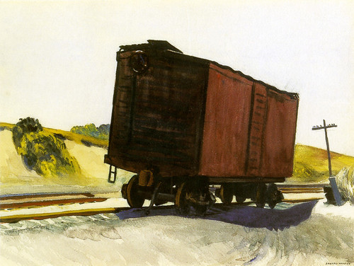 Art Prints of Freight Car at Truro by Edward Hopper