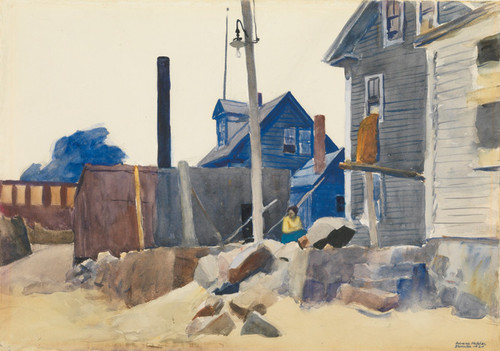 Art Prints of House on the Shore by Edward Hopper