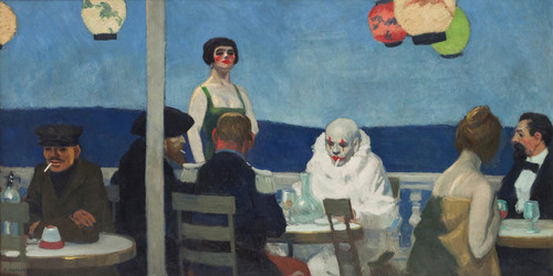 Art Prints of Soir Bleu by Edward Hopper