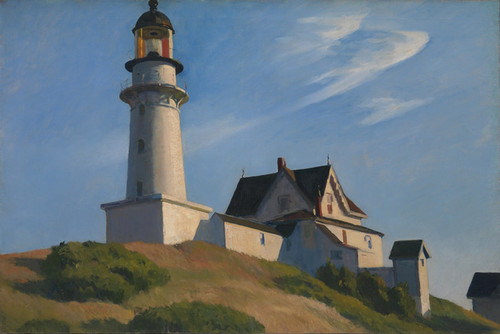 Art Prints of The Lighthouse at Two Lights by Edward Hopper