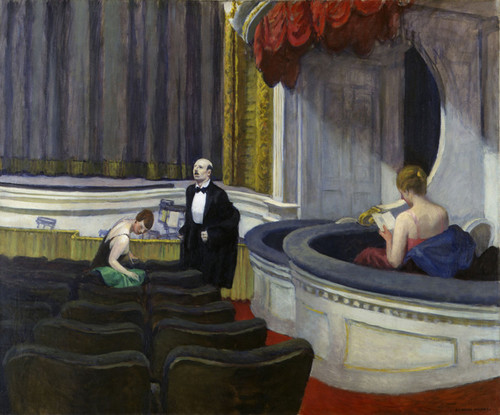 Art Prints of Two on the Aisle by Edward Hopper