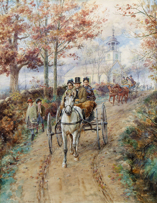 Art Prints of Carriage Ride, 1886 by Edward Lamson Henry