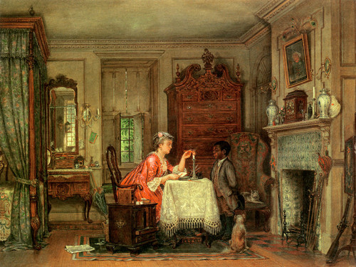 Art Prints of Drafting the Letter, 1871 by Edward Lamson Henry
