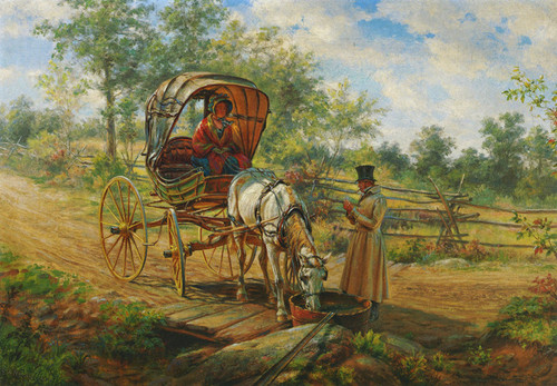 Art Prints of At the Watering Trough by Edward Lamson Henry