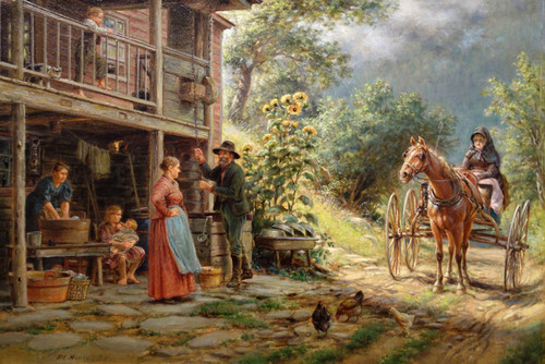 Art Prints of Off the Main Road by Edward Lamson Henry