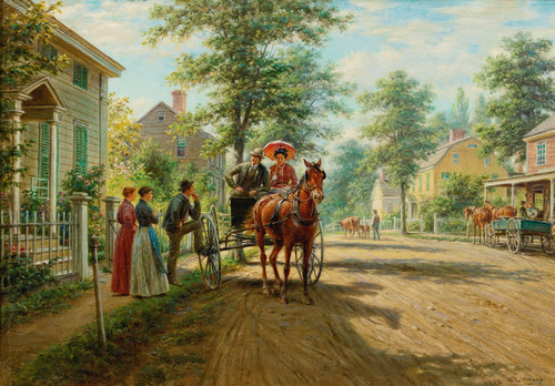 Art Prints of One Sunday Afternoon by Edward Lamson Henry