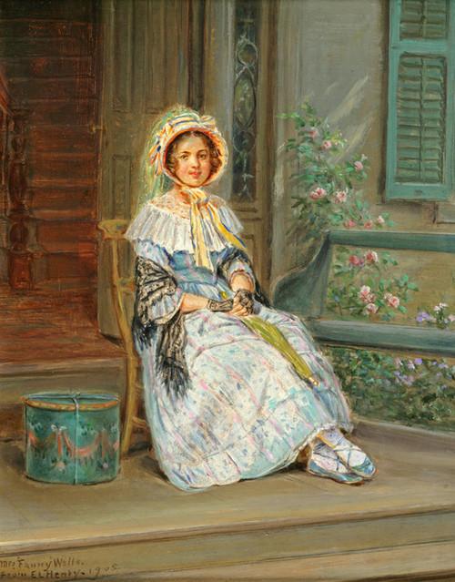Art Prints of Portrait of Mrs. Fanny Wells by Edward Lamson Henry