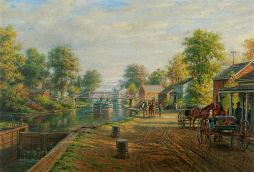 Art Prints of Scene Along Delaware and Hudson Canal by Edward Lamson Henry