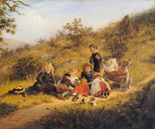 Art Prints of The Sunny Hours of Childhood, 1879 by Edward Lamson Henry