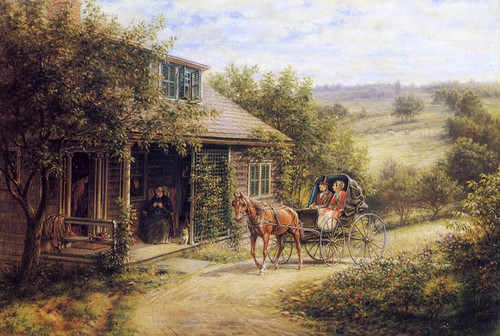 Art Prints of Unexpected Visitors by Edward Lamson Henry