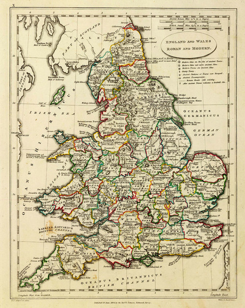 Art Prints of England and Wales, Roman Modern, 1804 (2319020) by Edward Patteson