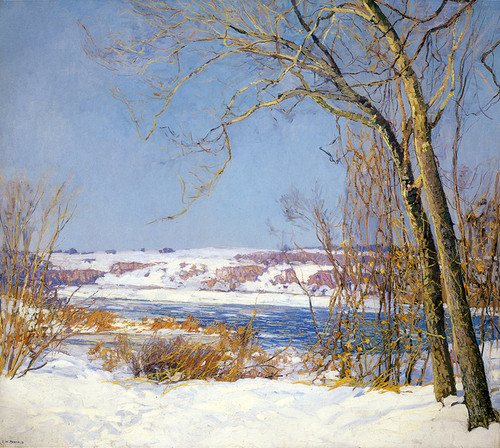Art Prints of Birch and Sycamore by Edward Redfield