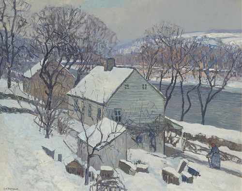 Art Prints of Lumberville Hills by Edward Redfield