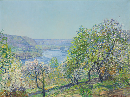 Art Prints of Hills of Point Pleasant by Edward Redfield
