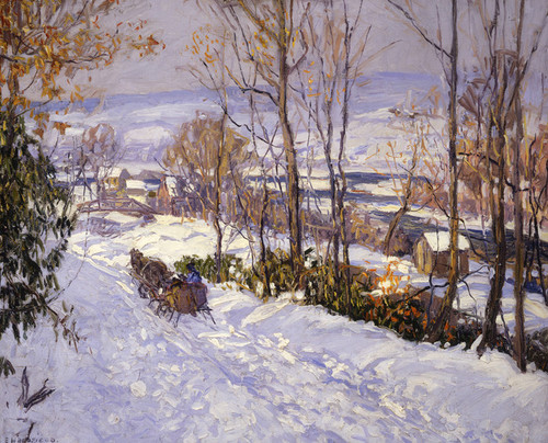 Art Prints of Road and River by Edward Redfield