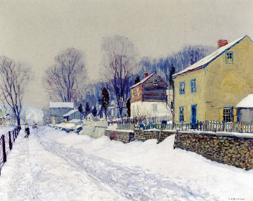 Art Prints of The Village of Center Bridge by Edward Redfield