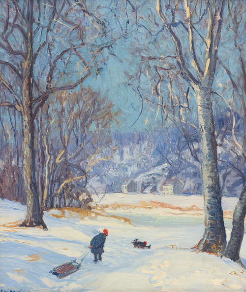 Art Prints of Winter Sports by Edward Redfield
