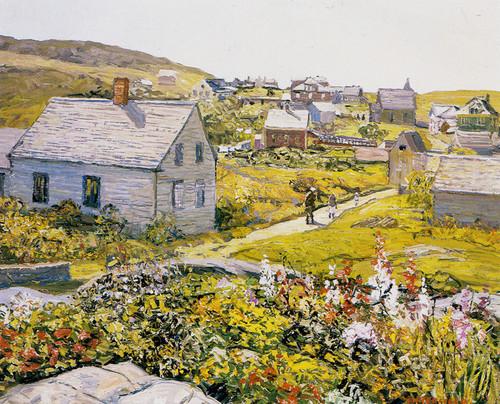 Art Prints of Monhegan Village by Edward Redfield