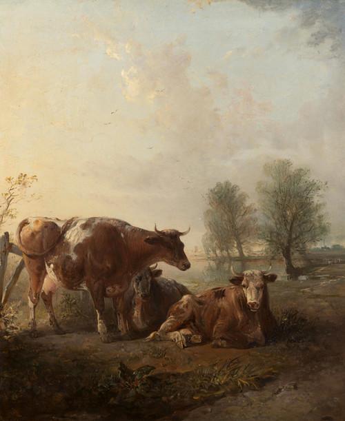 Art Prints of Cattle in a Landscape by Edward Robert Smythe