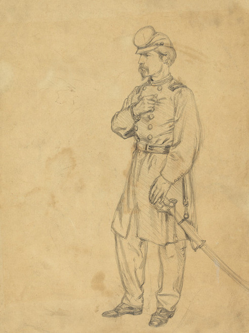 Art Prints of An Officer of Infantry, U.S.V. (20718L) by Edwin Forbes