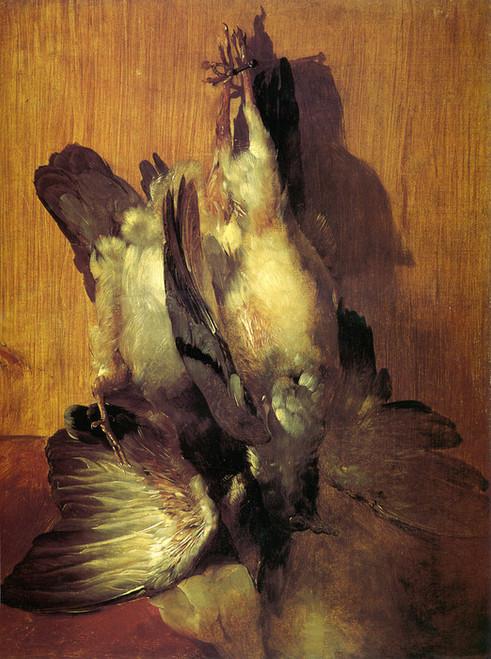 Art Prints of Pigeons Hanging in a Game Larder by Edwin Henry Landseer