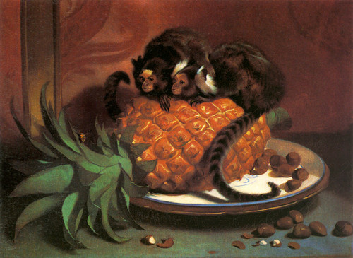 Art Prints of Pair of Brazilian Monkeys by Edwin Henry Landseer